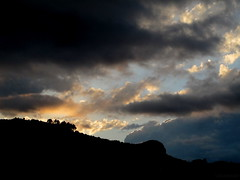 Light vs. Dark (I m y) Tags: blue trees sunset summer sky orange sun sunlight mountain black love luz sol beautiful yellow clouds forest landscape atardecer amazing colorful pretty colours afternoon shadows place time bosque cielo nubes montaña sombras tarde castellon imy bejis vicnamar