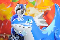 Aaron8181-7 (aaronwhipya) Tags: blue white husky dragon aaron gray inflatable inflate inflation pouncing megaplex aaron8181