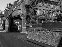 P7253535-1-2 (Lawrence Holmes.) Tags: wallart streetart graffiti mill mono blackandwhite manchester uk olympusc7070 lawrenceholmes