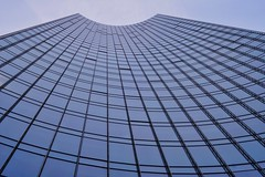 skyscraper concave blue (electrotimba) Tags: germany frankfurtammain