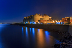 Deer Island Water Treatment (Rookie Romit) Tags: longexposure nightphotography boston island landscapes winthrop massachusetts cityscapes eastboston watertreatment deerisland sigma1020mm harborislands starlights canon60d
