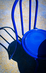 Take a Seat (Raggedjack1) Tags: bluechair blueseat chairshadow metalblueseat