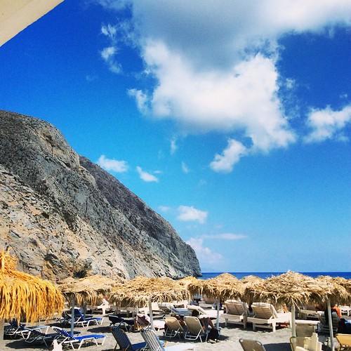 Black beach, Santorini. Photo by Alexander Hadji
