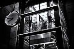 Up 7:48 (Claus Tom) Tags: street blackandwhite bw man male copenhagen subway denmark publictransportation metro candid streetphotography transportation cph kbenhavn