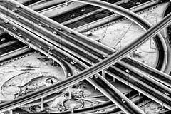 Dubai highway (Giuseppe Lupo) Tags: bw dubai uae uniti arabi emirati 500px emiratiarabiuniti ifttt