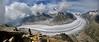 Aletsch Glacier Panorama (ladigue_99) Tags: alps switzerland nuvole suisse hiking hike cairns alpen svizzera gletscher alpi cloudscape ghiacciaio eggishorn fiesch fiescheralp aletschglacier bernesealps ometti ladigue99 cantonofvalais alpibernesi cantonvallese