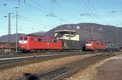 150 046  Geislingen  05.03.94 (w. + h. brutzer) Tags: analog train germany deutschland nikon eisenbahn railway zug trains db 150 locomotive lokomotive geislingen elok eisenbahnen e50 eloks webru