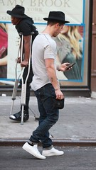 (Jonasbesties) Tags: ny hat lunch candid nick joe jonas 2014