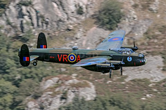 Canadian Avro Lancaster low level at Thirlmere (NDSD) Tags: world lake canada heritage war district low canadian level cumbria lancaster bomber avro thirlmere flypast