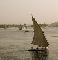Sails Along the Nile [Explored] (The Spirit of the World) Tags: sailboat river sailing sails egypt nile sailboats aswan waterscape feluccas thenile famousriver feluccasonthenile famouswaterways famoussightsinegypt rememberthatmomentlevel1 rememberthatmomentlevel2 rememberthatmomentlevel3 timelessegypt