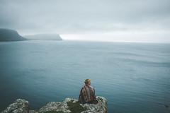 When your Mind's made up (Greatbigwhale) Tags: ocean blue portrait skye water 35mm prime fuji dof dream atlantic depthoffield dreamy vignetting vignette impression x100 inspiredbylove 23mm primelense vollformat fujix100s x100s