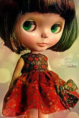 newgirland new dress <3 (Odd Princess Dolls) Tags: red dark doll dress ooak blythe custom