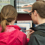 Bookshop browsing at the Edinburgh International Book Festival