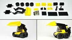 Skid-steer loader (Small Lego Toy - MOC) (hajdekr) Tags: toy lego small vehicle loader moc skidloader skidsteer microscale skidsteerloader microbricks