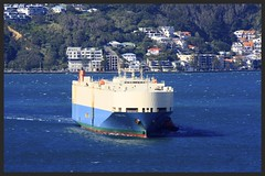 The arrival and berthing of the Polaris Ace at the port of Wellington (SemmyTrailer) Tags: newzealand port docks ship vessel wellington roro polarisace