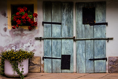 Part of the house in South Moravia (fjuryadam) Tags: life urban flower building art history window architecture canon lights still colorful europe doors shadows village czech perspective sigma lightroom moravia bykovice