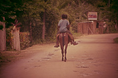 Transp (Noth1ng 2 Off3r) Tags: vacation horse kids kid dominican republic ride side country riding transportation