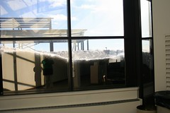 #72 GGO Chase Part 1 Duluth International Airport, January 15th 2011, The window from inside, Photo by Wes 5 (wesbird72) Tags: duluth international airport terminal minnesota duluthminnesota duluthinternational duluthinternationalairport car cars auto autos plane planes airplane airplanes snow ice cold colder coldest window door airportterminal birder birding