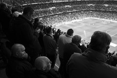 Two men seated (Julián del Nogal) Tags: sport football people stadium crowd expressions