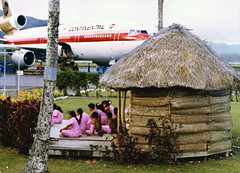 The welcome at Pago Pago Airport