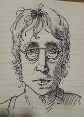 Give peace a chance !  John Lennon #music #sketch (dege.guerin) Tags: sketch music