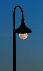 A true moon-light (Robyn Hooz) Tags: moon luna lampione sovrapposizione lampadina cielo bulb night notte