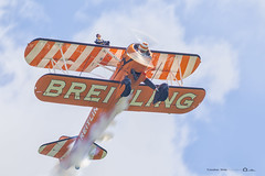 Breitling Wing Walkers (jonathan_ed1984) Tags: do aviation airshow to biplane 2014 breitling cosford barnstormers wingwalkers stearmen