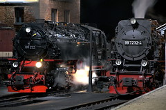 DSC_0736 (Nigel Gresley) Tags: snow streets germany smoke trains steam east maintenance harz sheds unit wernigerode quedlinburg mallett alexisbad gernerode