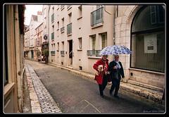 Temps de chiens (Maestr!0_0!) Tags: street dog color film rain umbrella fuji minolta candid rue chartres argentique parapluie 7000