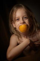 Anastasia and orange