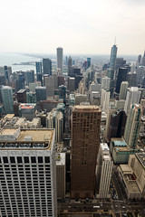 Chicago Skyline from John Hancock Tower (MikePScott) Tags: camera usa chicago skyscraper buildings lens illinois unitedstates roofs johnhancocktower builtenvironment architecturalfeatures nikond600 nikon1424mmf28 featureslandmarks