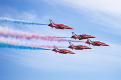 red arrows 2 (malc_smith) Tags: uk red fly aircraft smoke jet airshow planes arrows redarrows raf cosford
