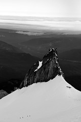 Four climbers and tents, one rock. (apanders) Tags: ice rock oregon forest canon mt illumination tent national crater axe hood crampon f4 mountaineer 6d 24105mm