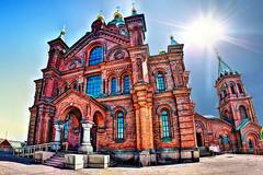 Uspenski Cathedral, Helsinki, Finland (roan74) Tags: sun building finland helsinki cathedral fisheye hdr samyang8mm