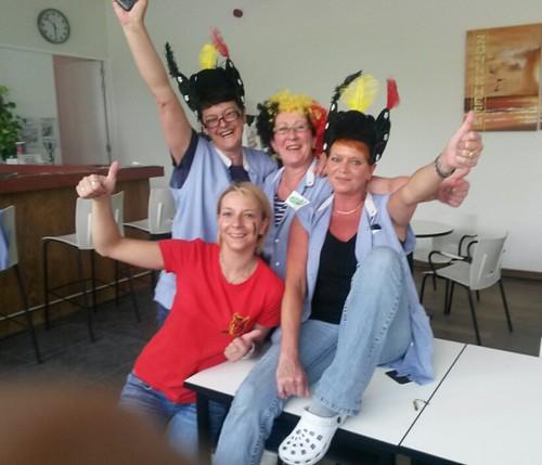 Fans Rode Duivels in Zonneheem