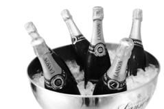 Celebration (Larrie Barlow) Tags: wedding white black wine bottles champagne celebration cooler barlow lanson larrie