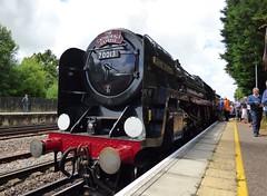 Ex British Railways 7P 4-7-2 Standard Class 70013 'Oliver Cromwell' Headcorn 5/7/14 (jmupton2000) Tags: west water sussex coast kent loco canterbury class steam stop locomotive horsham excursion charter brittania 70013 1z80