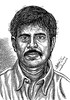 Director R K SELVAMANI Portrait   Pen Drawing by Artist AniKartick Chennai Tamil Nadu India