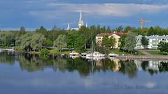 Joensuu - Finland (Sami Niemeläinen (instagram: santtujns)) Tags: suomi finland river landscape harbor harbour maisema satama joensuu joki pielisjoki