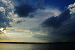 Strong Thunderstorms Miramichi area, July 2 2014 (nbstormchaser) Tags: summer sky beach nature water clouds river wind thunderstorm storms anvil severeweather cumulonimbus rainshaft