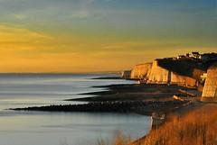 sunset over hove (Rob McC) Tags: uk sunset seascape landscape coast hove cliffs nd400