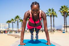 Summer Fitness w/ Aminat (BJermaine) Tags: california summer beach girl beautiful photography losangeles sand photoshoot santamonica smiles workout fitness musclebeach bjermaine brandonjermaine