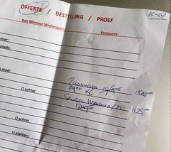Day 156 (Wouter de Bruijn) Tags: bike bicycle writing paper discount quote mountainbike 365 29er prices 156 merano iphone sensa iphone4 zannata z29evo