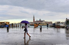 When it rains in Venice, I take pictures (Rex Montalban Photography) Tags: venice sunset italy storm umbrella nikon europe italia raining venezia hdr d600 ladywithanumbrella rexmontalbanphotography