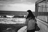 by the sea (gorbot.) Tags: sea portrait blackandwhite evening syracuse sicily roberta marzamemi sicilia siracusa lightroom rangefindercamera mmount leicam8 voigtlander28mmultronf19 vscofilm