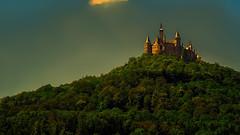 The last looks on Hohenzollern - III (KF-Photo) Tags: castle 169 trme burg abendstimmung hechingen hohenzollern lichtspiel zoller burghohenzollern rckfahrt kanalmixer goldeneslicht zollerblick farbeersetzen samyang1485 goldenetrme