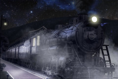 Midnight Train (nhdphoto830) Tags: train photoshop photography omg hdr