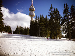 Snowboarding Lessons at the top of the Mountain in Pamporovo, Bulgaria