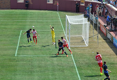 Header (jpellgen) Tags: summer usa sports minnesota america football nikon midwest soccer minneapolis august mpls twincities tamron mn manchestercity olympiakos universityofminnesota 2014 epl 18200mm jamesmilner barclayspremierleague tcfbankstadium d5100 stevanjovetic guinnessinternationalchampionscup