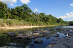 Paluxy River (ambeanerxcore) Tags: park blue sky water rose river landscape rocks day texas dinosaur state tx glen valley paluxy pwpartlycloudy